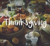 Thanksgiving Blessing Celebrating Grateful Meal Concept stock photography