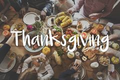 Thanksgiving Blessing Celebrating Grateful Meal Concept royalty free stock photos