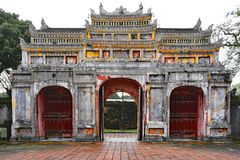 Tho Chi Gate. The Tho Chi Gate in the Dien Tho Residence complex in the Imperial City, Hue, Vietnam Royalty Free Stock Photo