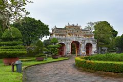 Tho Chi Gate. The Tho Chi Gate in the Dien Tho Residence complex in the Imperial City, Hue, Vietnam Stock Photos