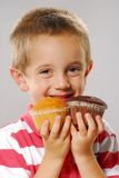 Tho little cakes. Royalty Free Stock Image
