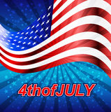4thofJULY. 4th of july American independence day badge. Vector Stock Illustration