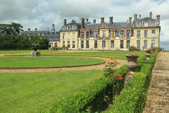 Thoiry chateau. The rennaisance chateau Thoiry in France stock images