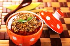Thokku för ka Achar/Mangai för mangoknipa/Aam arkivfoton