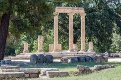 Tholos奥林匹亚希腊 图库摄影