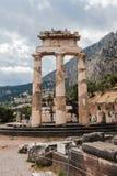 Tholos на Дэлфи Греции Стоковое Изображение