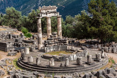Tholos在特尔斐希腊 库存照片