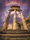 Tholos,特尔斐,希腊 免版税库存图片