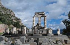 Tholos av templet av Athena i Delphi royaltyfri foto