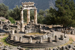 Tholos de Delphes Photos stock