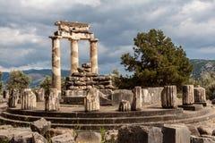 Tholos at Delphi Greece royalty free stock photo