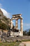 Tholos, Delphi, Griechenland Lizenzfreie Stockfotos