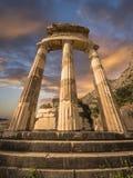 Tholos in Delphi, Griechenland Lizenzfreie Stockbilder