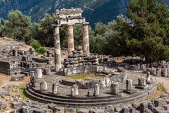 Tholos på Delphi Greece Arkivfoto