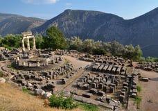 The Tholos at the sanctuary of Athena Pronaia Stock Photos