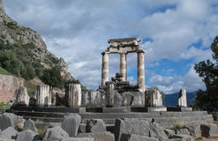 Tholos of the temple of Athena in Delphi Royalty Free Stock Photo