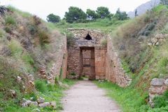 Tholos Tomb of Aegisthus, Mycenae, Stock Photography