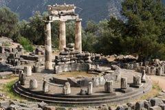 Tholos von Delphi Stockfotos
