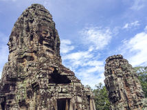 thom виска Камбоджи bayon angkor Стоковые Изображения RF