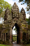 thom för angkorcambodia port till Fotografering för Bildbyråer