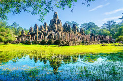 Thom, famous temple of Angkor Wat, Cambodia Stock Images