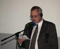 Thom Palmen στην τελετή επηβραβεύσεων του Cluj κωμωδίας Στοκ Φωτογραφία