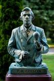 Thomas Alva Edison Oostenrijkse kunstenaar die tijdens het Internationale Festival van het Leven Standbeelden presteren, Boekares stock afbeeldingen