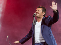 Thomas Anders sings Royalty Free Stock Images