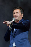 Thomas Anders sings Royalty Free Stock Photo