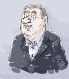 Thomas Bach. Cartoon of the president of the International Olympic Committee Stock Photo