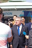Thomas Bach, president of IOC Stock Photo