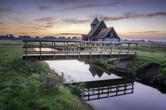 Thomas Becket kyrka, Fairfield, Romney Marsh Royaltyfri Fotografi