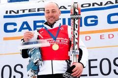 Thomas Bergamelli  carving World Champion 2011 Stock Photography