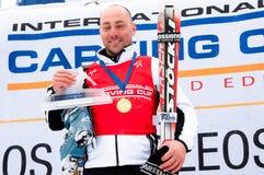 Thomas Bergamelli, das Weltmeister 2011 schnitzt Stockfotografie