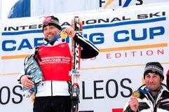 Thomas Bergamelli and Umberto Simoncelli podium Stock Photo