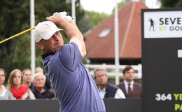 Thomas Bjorn bij de Seve-Trofee 2013 Royalty-vrije Stock Foto's