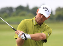 Thomas Bjorn przy Francuskim golfem Otwiera 2013 Obrazy Royalty Free