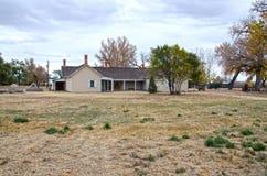 Thomas Boggs House på Boggsville på Santa Fe Trail Royaltyfri Foto