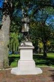 Thomas Cass statue. The Thomas Cass bronze statue in the Boston Public Garden, Massachusetts Stock Image