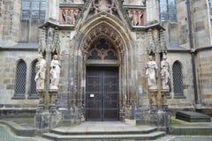 Thomas Church in Leipzig Stock Afbeeldingen