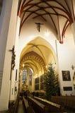 Thomas Church in Leipzig Stockbilder