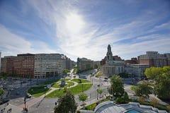 Thomas Circle - Washington D.C. from above Royalty Free Stock Photos