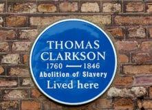 Thomas Clakson plakieta zdjęcie royalty free