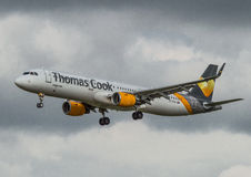Thomas Cook Airbus A 321 Foto de Stock Royalty Free