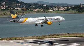 Thomas Cook Airbus Landing stock photo