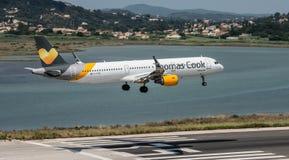 Thomas Cook Airbus Landing Stock Photo
