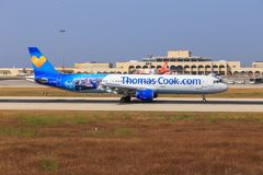 Thomas Cook Airbus A321 on Malta Stock Photography