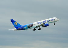 Thomas Cook Boeing 757 Royalty Free Stock Photos
