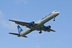 Thomas Cook Boeing 757 Royalty Free Stock Photo