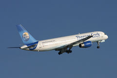 Thomas Cook Boeing 757 plane Royalty Free Stock Images